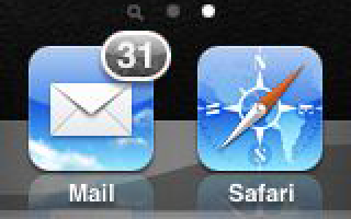 iOS Mail Icon (Grey Badge)