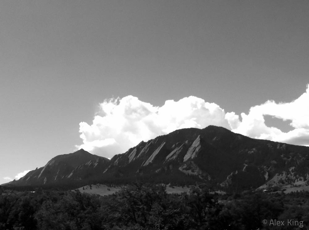 Flatirons (Black and White)