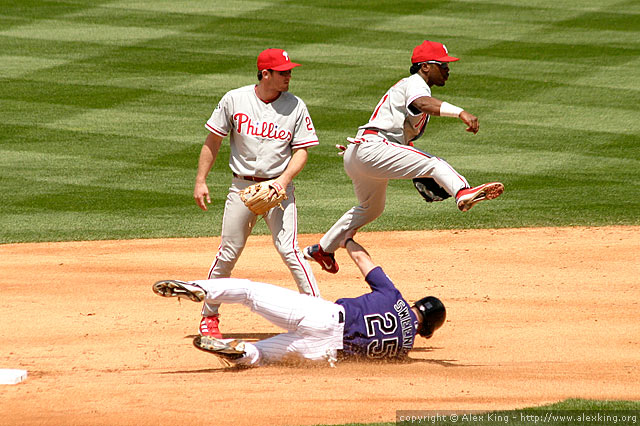 Jimmy Rollins, flying high