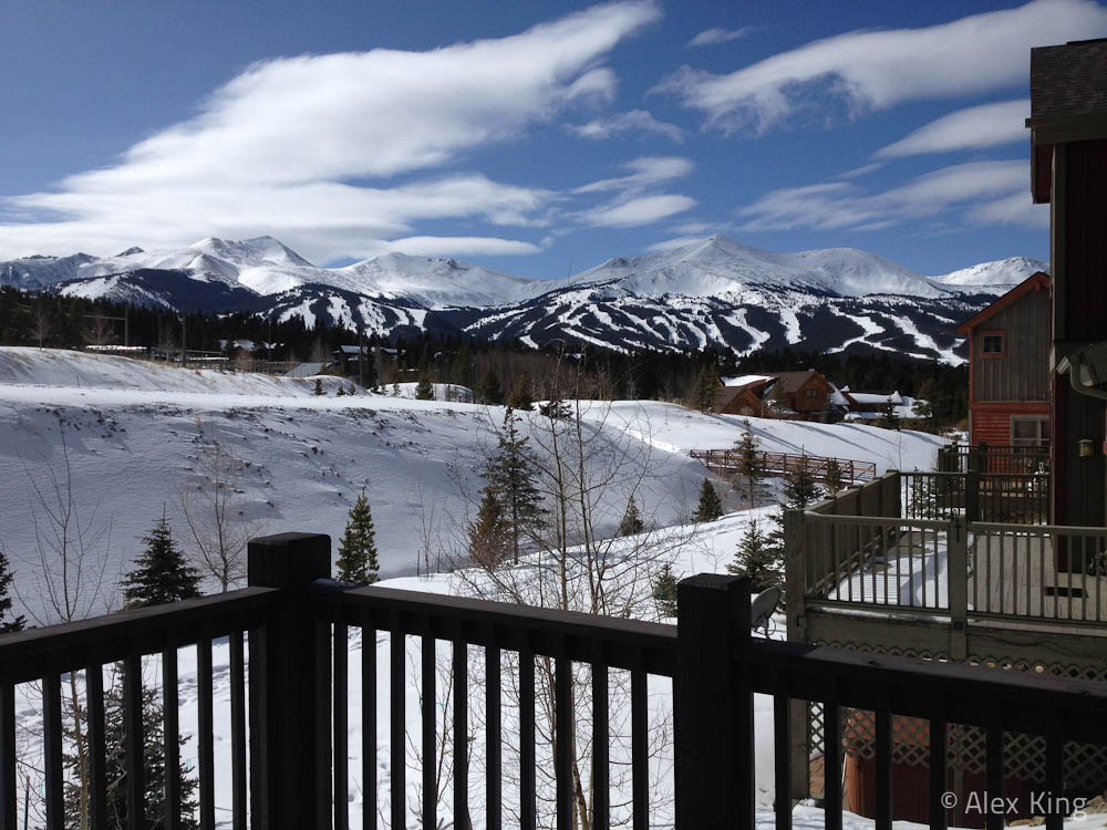 View of Breckenridge from the Deck