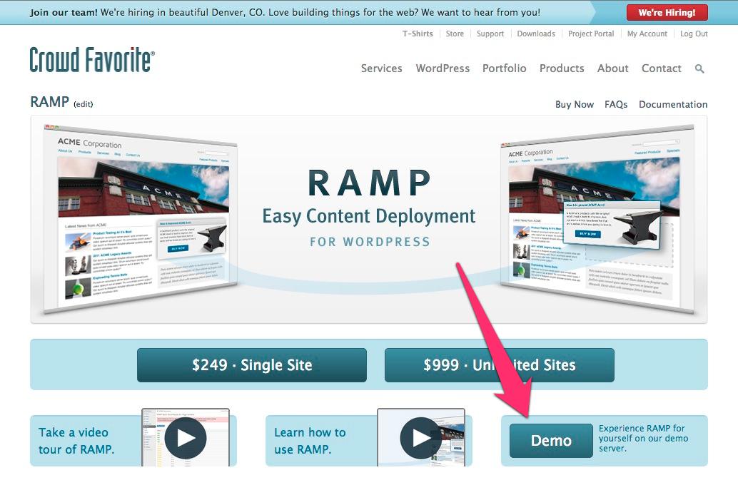 RAMP demo