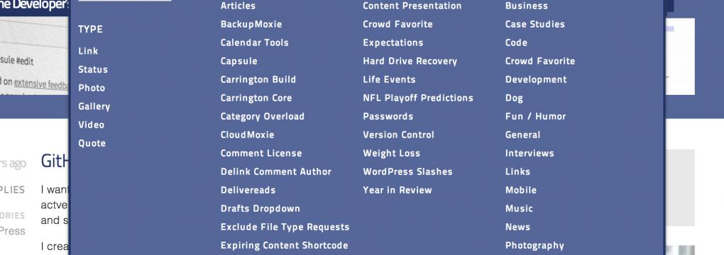Blog nav mega menu