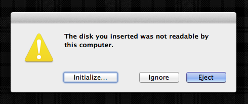Disk cannot be read