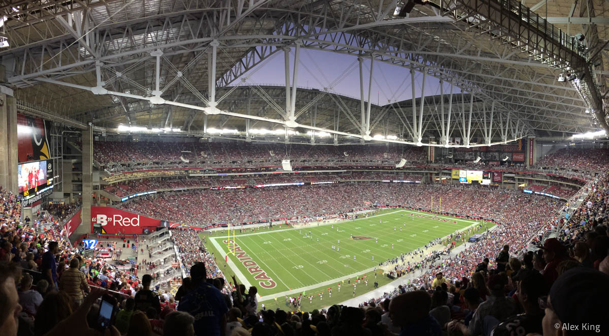 I was able to attend the Cardinals vs. Seahawks game while I was there.