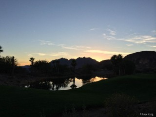 The sun went down as we were finishing our round.