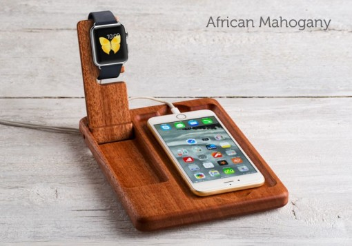 the timber catchall for apple watch - Iphone Charging Station